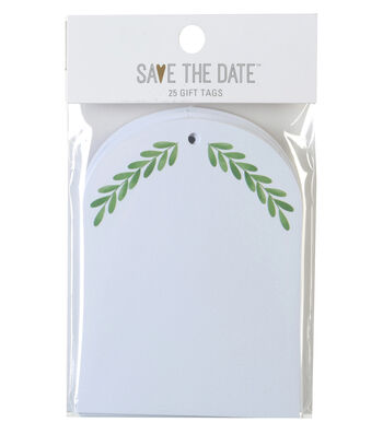 Save the Date 25ct Gift Tags-Greenery
