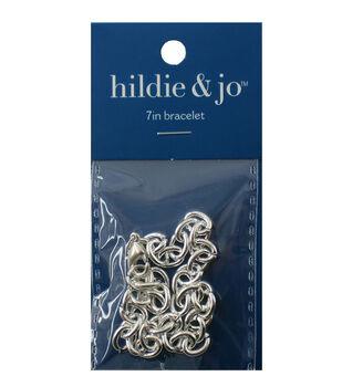 "Darice Jewelry Designer Slimpack Silver Metal Chain-7"" Charm Bracelet"