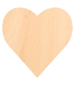 Wooden 8''x8'' Heart Cut-out