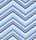 Snuggle Flannel Fabric -Twilight Dotted Chevron