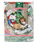 Peace On Earth Stocking Felt Applique Kit 18\u0022 Long