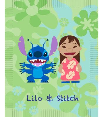 Disney Lilo & Stitch No Sew Fleece Throw Fabric-Tropical