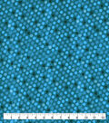Snuggle Flannel Fabric-Teal Dot