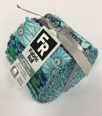 Jelly Roll Cotton Fabric Pack 2.5''x42''-Teal