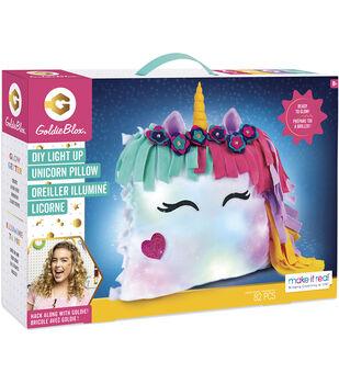 GoldieBlox DIY Light Up Unicorn Pillow