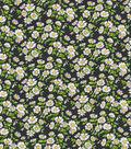 Keepsake Calico Cotton Fabric-Daisy Delight Black