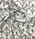 Specialty Cotton 2-Color Embroidered Scallop Cotton Fabric-White Black