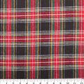 Plaiditudes Brushed Cotton Fabric-Black & Red Tartan Plaid