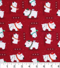 Holiday Cotton Fabric -Christmas Polar Bears