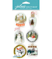Jolee's Boutique Stickers-Snow Globes Ornament, , hi-res