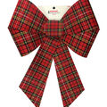 Handmade Holiday Christmas 18\u0027\u0027 Bow-Red Tartan Plaid