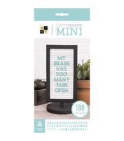 DCWV Framed Mini Tabletop Letterboard-Black & White, , hi-res