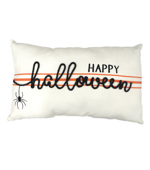 Maker's Halloween 20''x3.5'' Lumbar Pillow-Happy Halloween