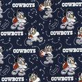 Dallas Cowboys Cotton Fabric-Mickey Mouses