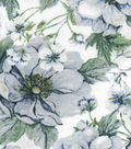 Luxe Flannel Fabric 42\u0022-Distressed Floral Oatmeal