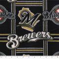 Milwaukee Brewers Fleece Fabric -Logo