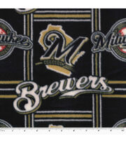 Milwaukee Brewers Fleece Fabric -Logo, , hi-res