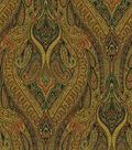 Waverly Upholstery Fabric-Karaj Paisley Onyx