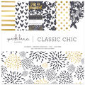 Park Lane 12\u0022x12\u0022 Paper Pad-Black & White Classic Chic
