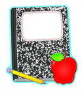 Composition Book And Apple Set Of 6