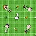 St. Patrick\u0027s Day Cotton Fabric-Snoopy & Friends on Plaid
