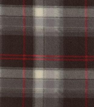 Blizzard Fleece Fabric-Beau Red Black Plaid