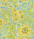 Home Decor 8\u0022x8\u0022 Fabric Swatch-Dena Layla Green Tea