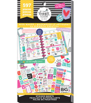 The Happy Planner Girl Value Pack Stickers-Miss Maker, , hi-res