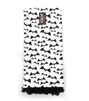 Maker's Halloween Decor 16''x26'' Towel with Trim-Bats