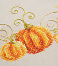 Vervaco 32\u0027\u0027x32\u0027\u0027 Stamped Embroidery Kit-Pumpkins