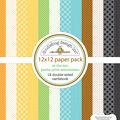 Doodlebug Petite Prints Double-Sided Cardstock 12\u0022X12\u0022-At The Zoo