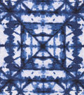 Snuggle Flannel Fabric -Navy Shibori