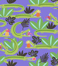 Snuggle Flannel Fabric -Hungry Alligators