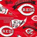 Cincinnati Reds Cotton Fabric-Vintage