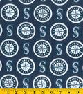 Seattle Mariners Cotton Fabric 58\u0022-Logo