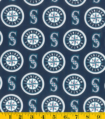 Seattle Mariners Cotton Fabric -Logo