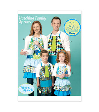 Kwik Sew Pattern K0209 Adult & Children's Aprons-Size S-XL