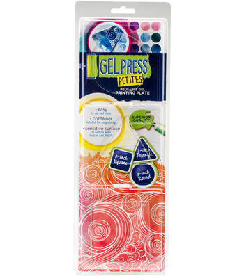 Gel Press Gel Petites 3/Pkg-Square, Triangle, Circle