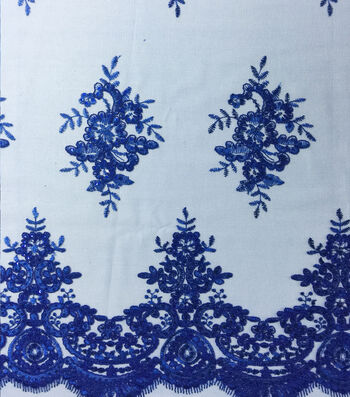 "Casa Embellish Gardenia Sequin Fabric 49""-Dazzling Blue"