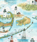 Snuggle Flannel Fabric 42\u0027\u0027-Lighthouse Destinations