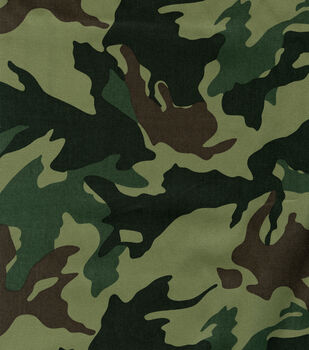 Fabric -Moss Green Leaf Camouflage