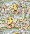 Easter Cotton Fabric-Ducks And Bunnies