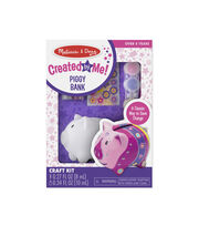 Melissa & Doug Decorate-Your-Own Piggy Bank Craft Kit, , hi-res