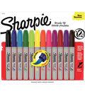 Sharpie Brush Tip Permanent Markers 12/Pkg-Assorted Colors