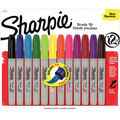 Sharpie Brush Tip Permanent Markers 12/Pkg-Assorted Colors
