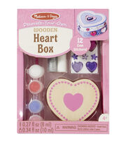 Melissa & Doug Decorate-Your-Own Wooden Heart Box Craft Kit, , hi-res
