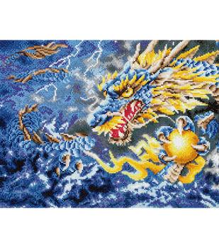 "Diamond Embroidery Facet Art Kit 26.7""X22.5""-Mythical Dragon"