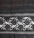 Speciality Cotton Fabric 43\u0027\u0027-Black Lace Eyelet