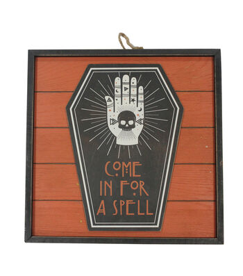 Maker's Halloween Plank Wall Decor-Come in for a Spell