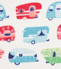 Anti-Pill Plush Fleece Fabric-Bright Campers